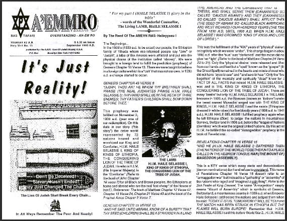 A'EMMRO | Rastafari Study Tracts #11 | It's Just Reality!