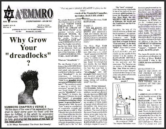 "A'EMMRO | Rastafari Study Tracts #4 | Why Grow Your ""dreadlocks""?"