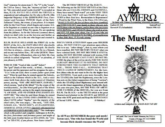 AYMERO | Rastafari Study Tracts #32 | The Mustard Seed!