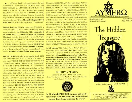 AYMERO | Rastafari Study Tracts #34 | The Hidden Treasure!