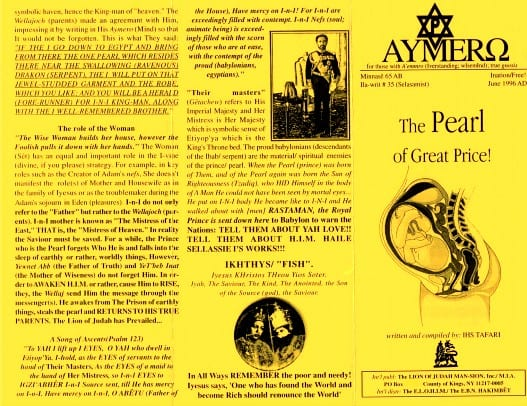 AYMERO | Rastafari Study Tracts #35 | The Pearl of Great Price!