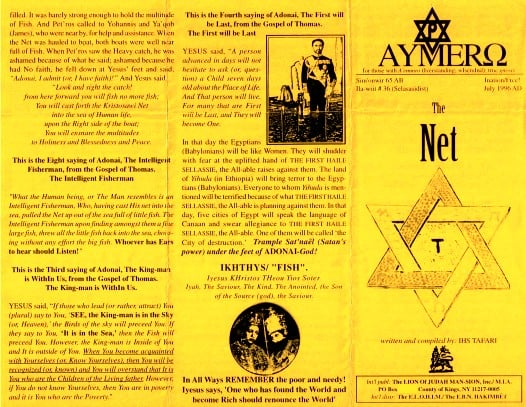 AYMERO | Rastafari Study Tracts #36 | The Net