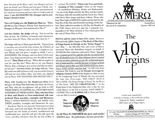 AYMERO | Rastafari Study Tracts #42 | The 10 Virgins