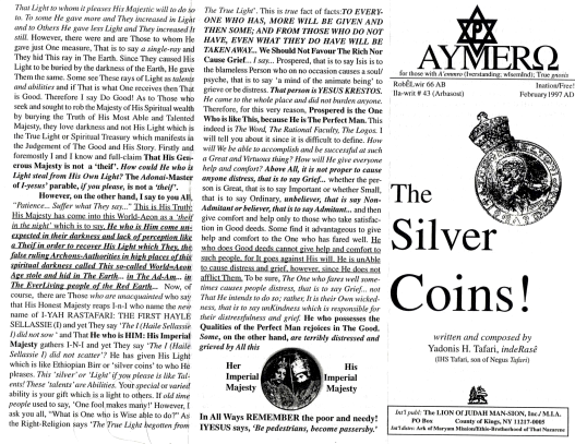 AYMERO | Rastafari Study Tracts #43 | The Silver Coins!