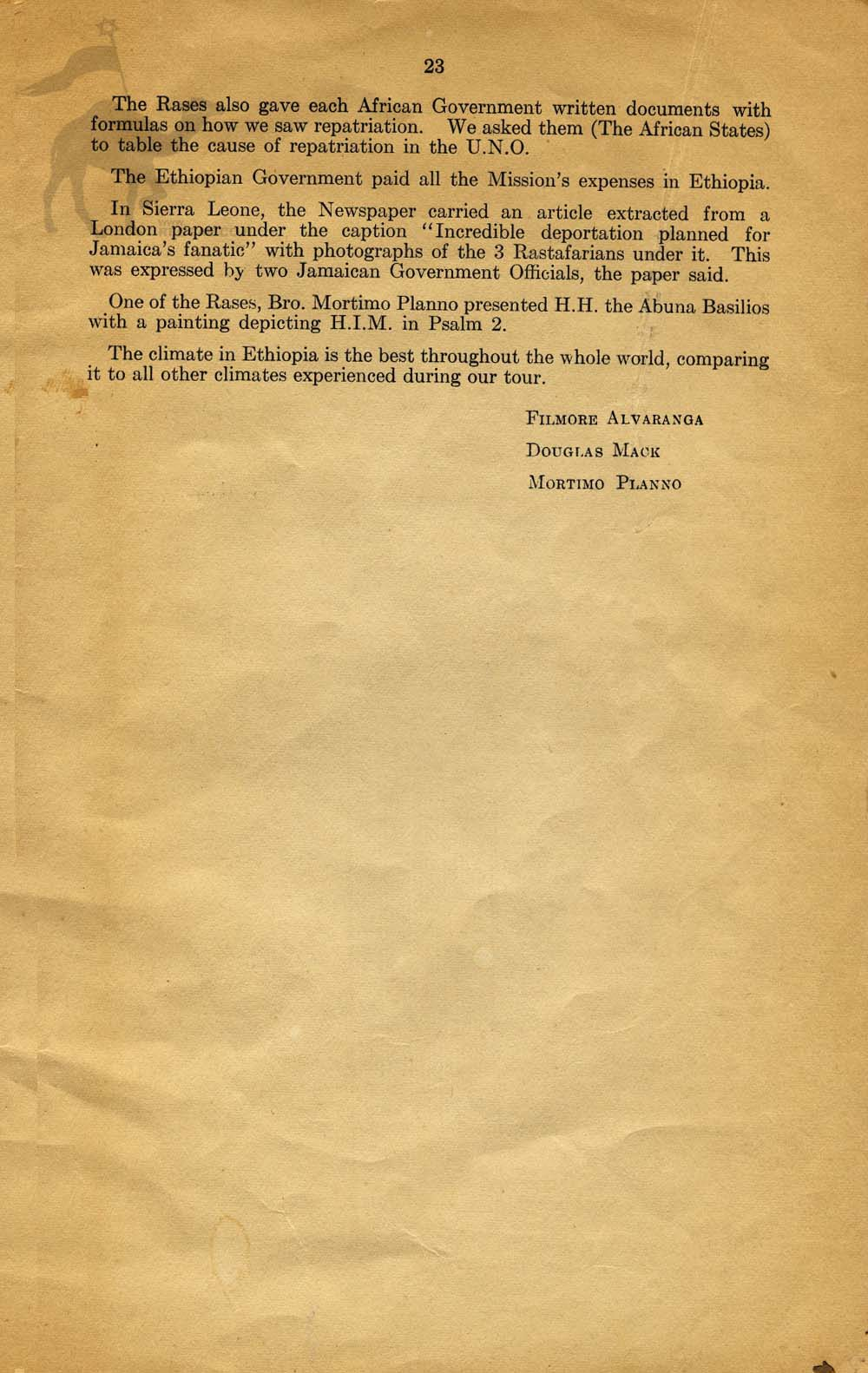 Summary Fact Finding of Back-to-Africa Mission | 1961 | Page 23