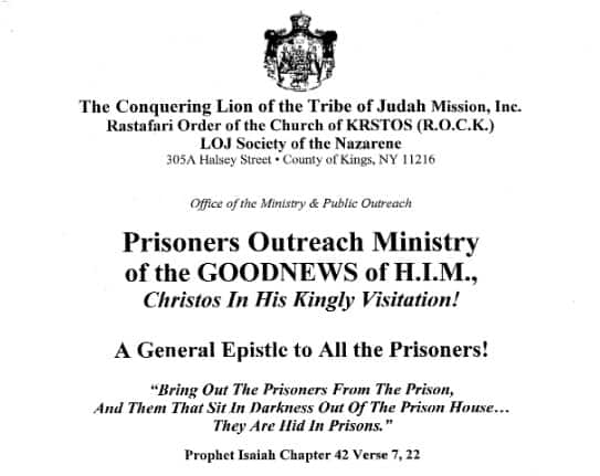 Prisoners Outreach Ministry Of The Goodnews Of H.I.M.