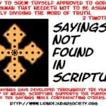 Sayings Not Found in Scripture