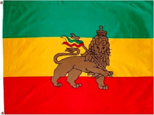 Rastafari Flag | Banner | Ensign - Ethiopian Lion Of Judah Flag