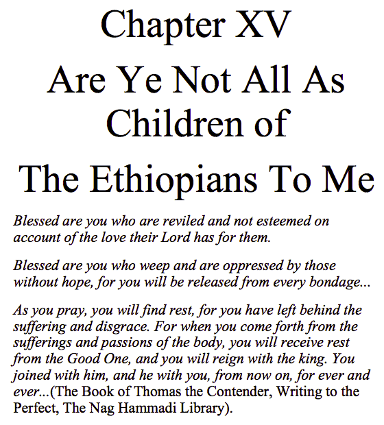 Are Ye Not As The Children Of The Ethiopians Chapter 15