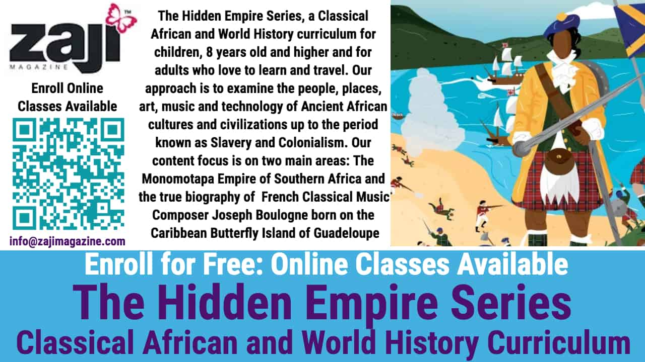 Enroll - Online Classes Available - The Hidden Empire Series, a Classical African and World History Curriculum