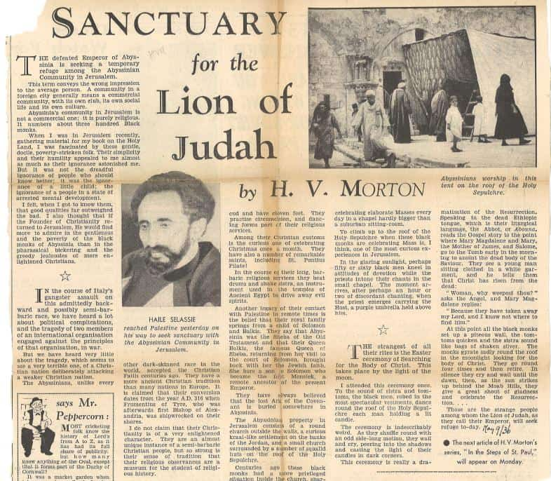 SANCTUARY for the Lion of Judah in JERUSALEM