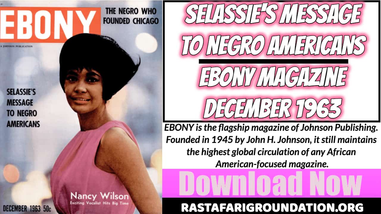 Free PDF | Selassie's Message to Negro Americans - Ebony Magazine, December 1963