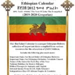 Rastafari Groundation Ethiopian Calendar Compilation 2019-2020